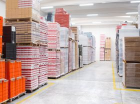 Warehouse and delivery of wavy boxes and cartons